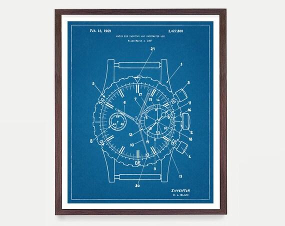 Rolex Patent Poster, Watch Art, Watch Poster, Rolex Art, Rolex Poster, Rolex Patent Art, Watch Patent, Watch Patent Poster, Watch Gift