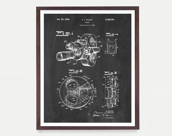 Film Camera - Movie Camera - Patent - Film Art - Cinema Poster - Movie Poster - Cinema Art - Vintage Camera - Movie Art - Film Art