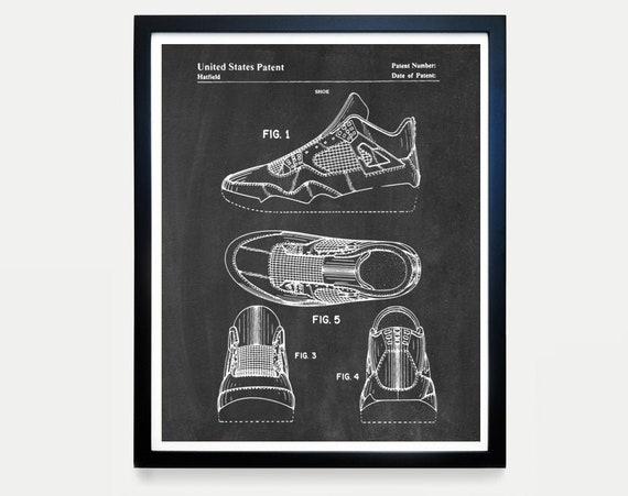 Nike Air Jordan Poster, Nike Shoes, Nike Sneakers, Air Jordans, Air Jordan Patent, Nike Patent, Nike Poster, Nike Art, Sneaker, Nike Gift