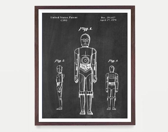 Star Wars - C3PO - Star Wars Patent - Star Wars Poster - C3PO Patent - C3PO Poster - C3PO Art - Sci Fi Poster - C3POPrint - Sci Fi Gift