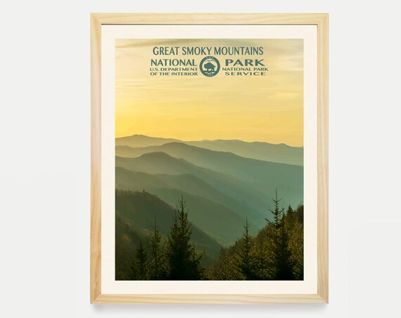 Great Smoky Mountains National Park -Great Smoky Mountains Poster - National Park Art - WPA - WPA Poster WPA Art - Smoky Mountains Art