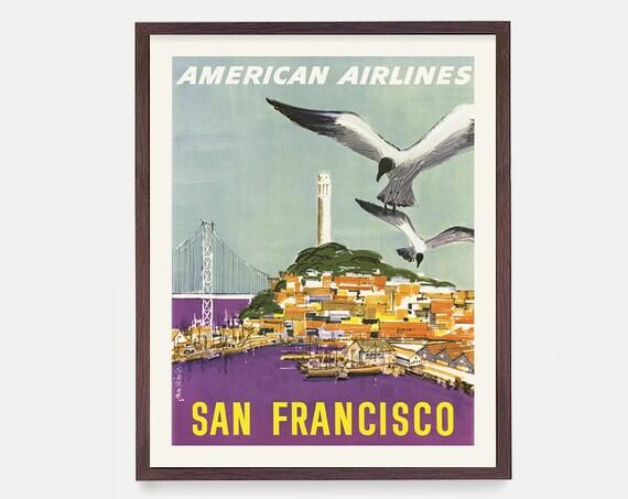 San Francisco Wall Art, San Francisco Poster, Golden Gate Bridge, Bay Area Art,  Golden Gate Art, California Gift, San Francisco Gift
