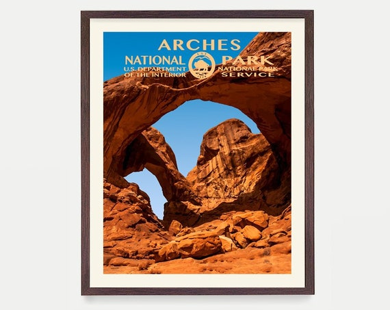 Arches National Park Poster - Arches Poster - Arches National Park Art - National Park Poster - WPA Poster  WPA Art - Arches wpa Poster Utah