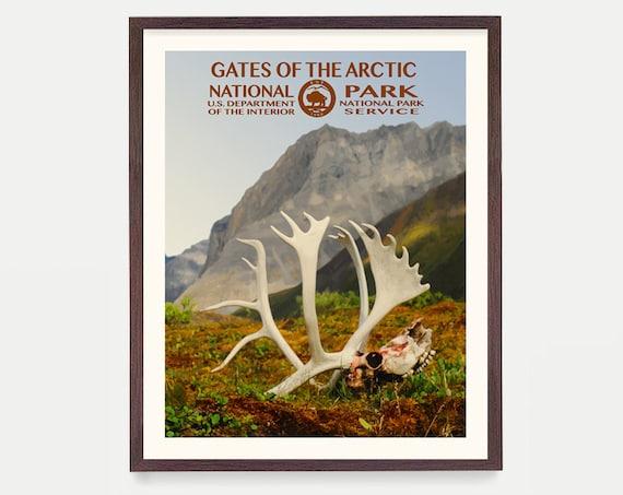 Gates of the Arctic National Park - Alaska Poster -  National Park Art - National Park Poster - WPA - WPA Poster  WPA Art - Alaska Art -