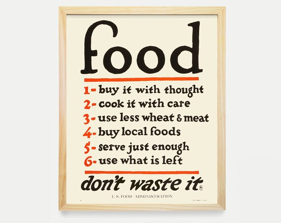 WPA Food Poster - Food Art - WPA Poster - WPA Art - Kitchen Poster - Kitchen Wall Art - Kitchen Decor - Kitchen Print - Minimal Kitchen Art