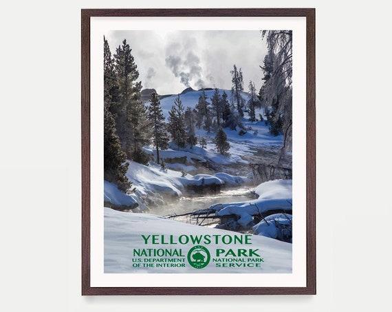 Yellowstone National Park Poster, Yellowstone Poster, National Park Art, National Park Poster, WPA Poster, WPA Art, Yellowstone Wall Art