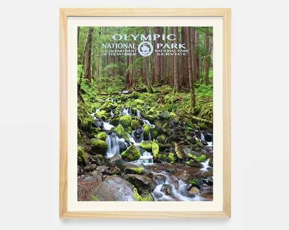 Olympic National Park - National Park Poster - National Park Art - WPA - WPA Poster WPA Art - Washington State Art - Washington Poster