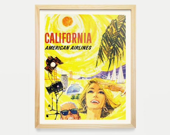 California - California Poster - California Travel Poster - Vintage California - Los Angeles - Los Angeles Poster - Los Angeles Art - Travel