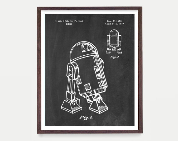 Star Wars - R2D2 - Star Wars Patent - Star Wars Poster - R2D2 Patent - R2D2 Poster - R2D2 Art - Sci Fi Poster - R2D2 Print - Sci Fi Gift
