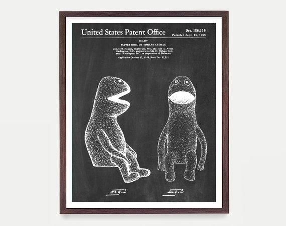 Kermit the Frog Patent - Jim Henson - Muppet Patent - Muppets - Sesame Street - Sesame Street Patent - Jim Henson Art - Jim Henson Poster