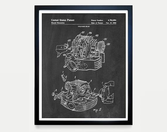 Ducati Patent Art, Ducati Poster, Ducati Art, Ducati Motorcycle, Motorcycle Art, Motorcycle Patent Art, Motorcycle Poster, Engine Patent