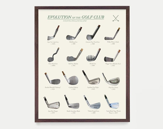 Golf Poster, Evolution of the Golf Club, Golf Poster, Golf Art, Golf Gift, Golf Wall Art, Vintage Golf, Golf Clubs Patent, Golf Patent