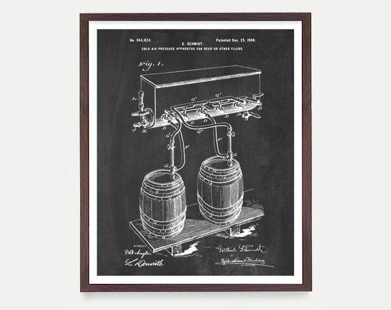BEER Patent - BEER Mug - Beer Tap - Beer Patent Art - Beer Art - Beer Decor - Bar - Beer Patent Poster - Brewery - Home Brewing  Kitchen Art