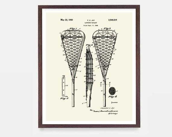 Lacrosse Patent Art, Lacrosse Art, Lacrosse Wall Art, Lacrosse Poster, Lacrosse Print, Lacrosse Patent Print, Lacrosse Stick, Lacrosse Gift