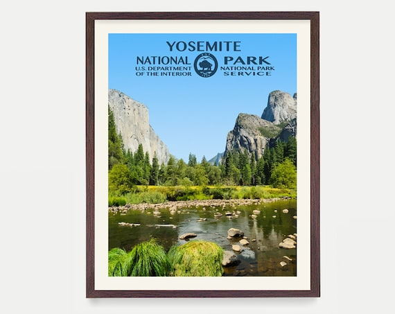 Yosemite National Park - Yosemite Poster - Yosemite National Park Art - National Park Poster - WPA Poster  WPA Art - Yosemite Gift -