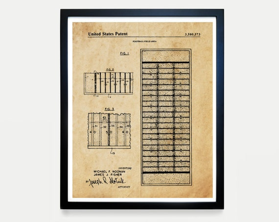 Football Field Patent - Football Art - Football Poster - Football Gift - Football Coach - Football Wall Art - Boys Room Poster - Sports Art