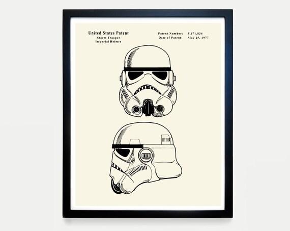 Star Wars Stormtrooper Patent, Star Wars Patent, Star Wars Poster, Death Star, Stormtrooper Art, Stormtrooper Poster, Star Wars Gift