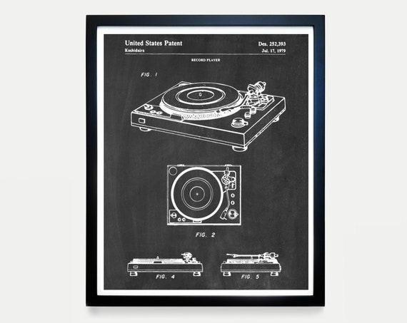 Record Player Patent - Turntable Patent Poster - Turntable Art - Stereo - Vinyl Poster - Vinyl Patent - Record Player Poster - Vinyl Record