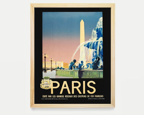 Paris Wall Art - Paris Travel Poster - Paris Poster - Airline Poster - Paris Decor - France Poster - Vintage Paris - Paris Gift - Home Decor