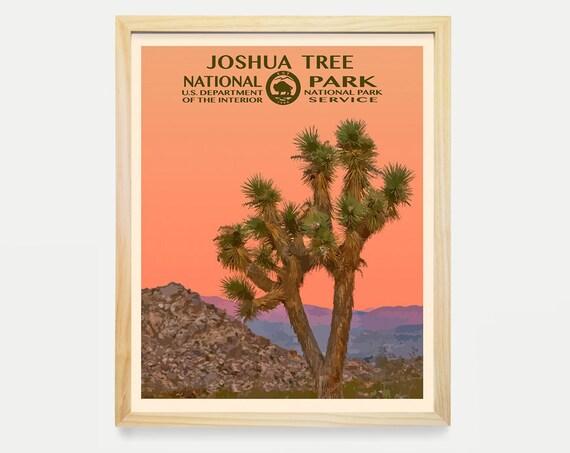 Joshua Tree National Park - Joshua Tree National Park Poster - National Park Art - WPA - WPA Poster  WPA Art - Joshua Tree Art - Desert Art
