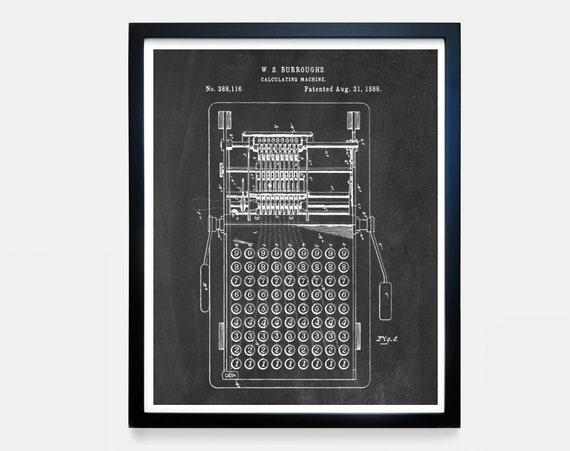Calculator Patent - Math Poster - Math Patent - Mathlete - Math Geek - Calculator Poster - Calculator Patent - Math Teacher Gift Classroom
