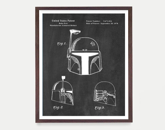 Star Wars - Boba Fett - Star Wars Patent - Star Wars Poster - Star Wars Art - Boba Fett Patent - Star Wars Wall Art - Sci Fi