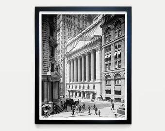 Bull Market Vintage Photography New York Stock Wall Street Print Poster 12x12