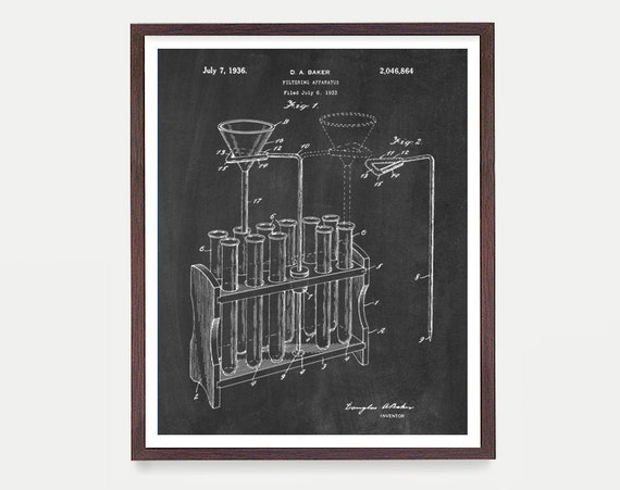 Test Tubes - Test Tube Poster - Science - Science Art - Science Poster - Science Patent - Scientist - Microscope Art - Science Gift - Office