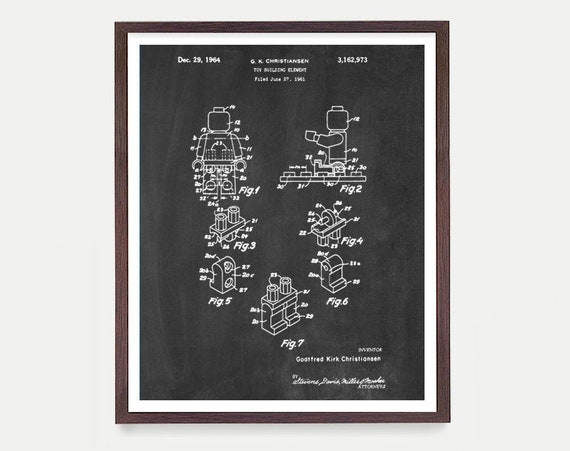Lego Patent - Lego Movie Poster - Lego Art - Lego Movie - Lego Poster - Boys Room Art - Boys Room Poster - Toy Patent - Kids - Canvas Art