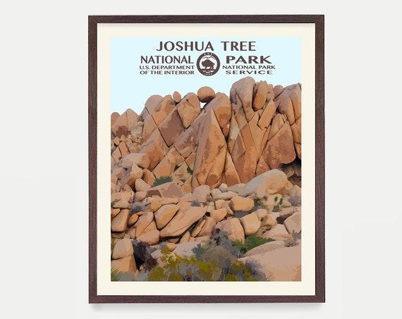 Joshua Tree National Park Poster - Joshua Tree Art - National Park Art - WPA - WPA Poster  WPA Art - Joshua Tree Wall Art - Desert Art