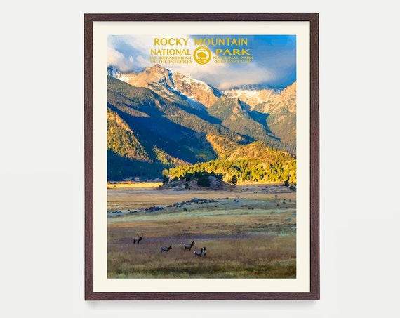 Rocky Mountain National Park Poster - National Park Art - WPA - WPA Poster - WPA Art - Rocky Mountains - Rocky Mountain Wpa