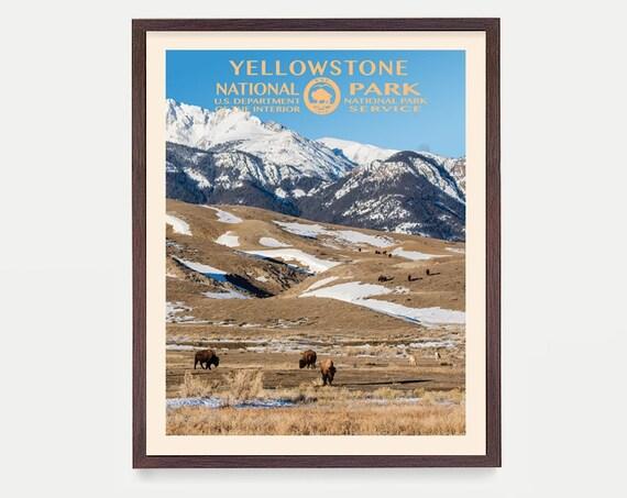 Yellowstone National Park Poster - Yellowstone Poster - National Park Art - National Park Poster - WPA Poster WPA Art - Yellowstone Wall Art
