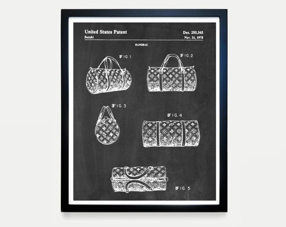 Louis Vuitton Patent Art - Louis Vuitton Poster - Louis Vuitton Decor -Louis Vuitton Bag - Fashion - Fashion Poster - Fashion Art - Handbag