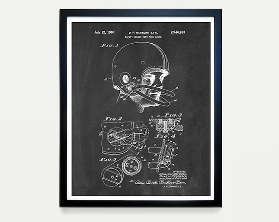 Football Helmet Patent - Football Art - Football Poster - Football Gift - Football Coach - Football Wall Art - Boys Room Poster - Sports Art