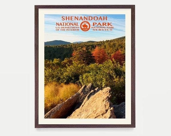 Shenandoah National Park Poster - Shenandoah National Park - National Park Art - WPA  WPA Poster  WPA Art - Appalachian Trail - Virginia Art