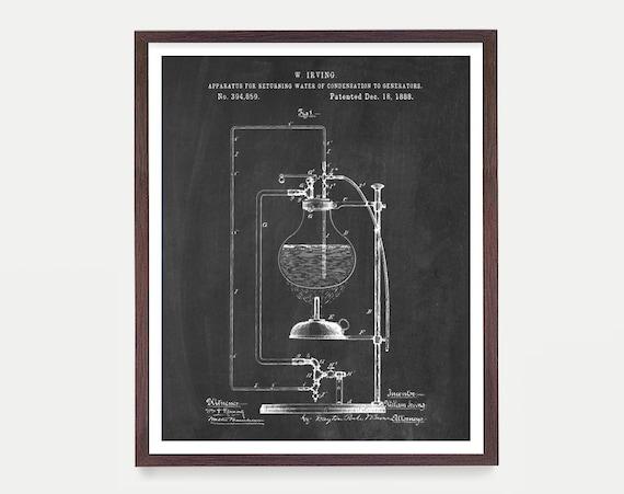 Science Patent - Bunsen Burner - Science Poster - Chemistry Poster - Science Art - Science Wall Art - Lab - Laboratory - Organic Chemistry