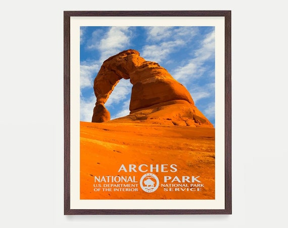 Arches National Park - Arches Poster - Arches National Park Art - National Park Poster - WPA - WPA Poster  WPA Art - Arches wpa Poster Utah