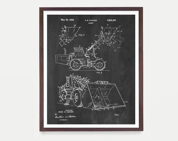 Construction Patent - Loader Patent Print  - Building Art - Construction Art - Construction Poster - Architecture - Building - Demolition