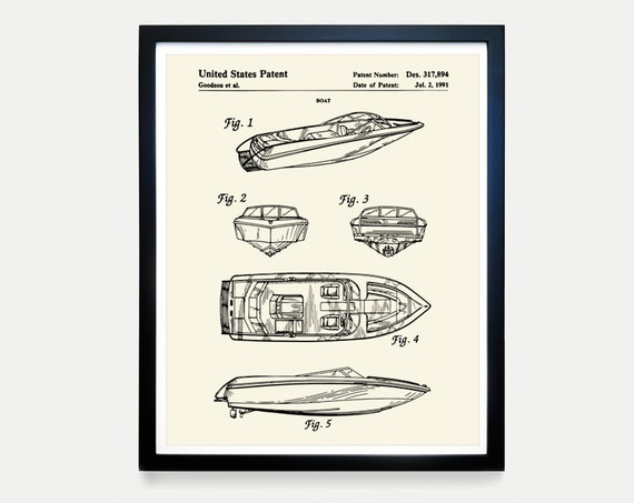 Boat - Mastercraft - Speed Boat - Lake Art - Fishing Art - Boat Patent - Maritime Poster - Nautical Poster - Maritime Wall Art - Canvas Art