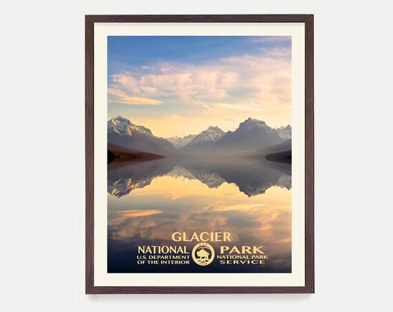 Glacier National Park Poster - Glacier National Park - National Park Art - WPA - WPA Poster  WPA Art - Rocky Mountains - Montana Poster