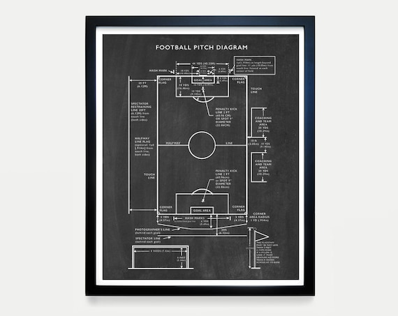 Soccer Pitch Diagram - Soccer Poster - Soccer Ball Poster - World Cup - World Cup Art - World Cup Poster - Soccer Wall Art - Soccer Patent