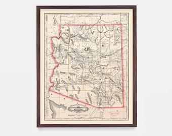 Arizona map   Etsy