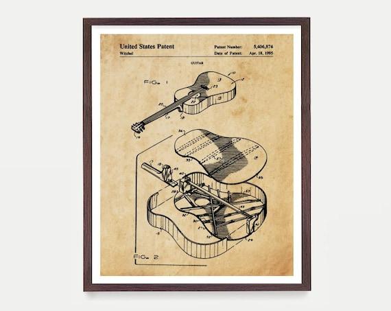 Guitar Patent - Acoustic Guitar Poster - Guitar Patent - Guitar Art - Guitar Wall Art - Musician - Boys Room - Martin Guitar - Music Art
