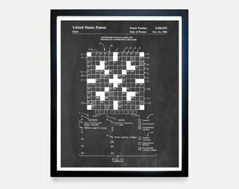 Crossword Puzzle Etsy