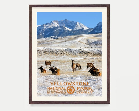Yellowstone National Park Poster - Yellowstone Poster - National Park Art - National Park Poster - WPA Poster WPA Art - Yellowstone Wall Art
