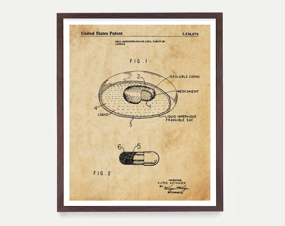 Pharmacist Patent Art - Drugstore Invention - Pharmacy Patent - Pharmacist - Pharmacist Gift - Pill - Medicine - Bio Tech Patent Art
