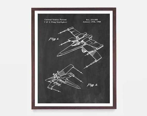 Star Wars Art, X Wing, Star Wars Patent, Star Wars Poster, X Wing Patent, Star Wars Art, Sci Fi Poster, Spacecraft, Sci Fi Art