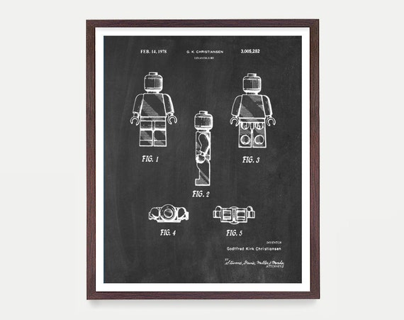 Lego Patent - Lego Movie Poster - Lego Art - Lego Movie - Lego Poster - Boys Room Art - Boys Room Poster - Toy Patent - Kids Art
