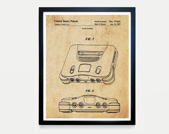Nintendo Poster, Video Game Art, Video Game Poster, Video Game Controller, Video Game Wall Art, Nintendo Patent, Nintendo Controller, Gamer
