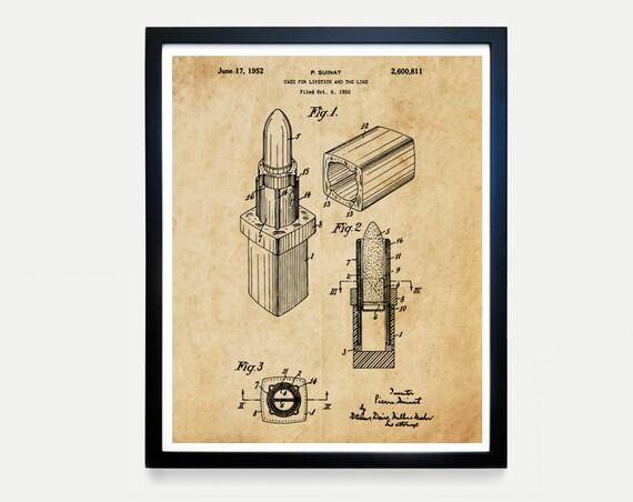 Coco Chanel Patent Poster - Chanel Lipstick Patent - Makeup Lipstick Patent - Chanel Art - Chanel Wall Art - Chanel Poster - Chanel Gift